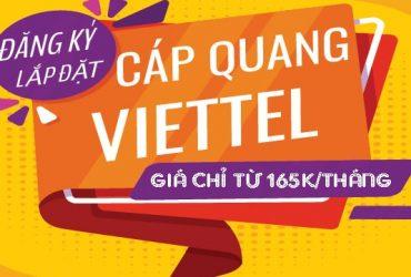lắp mạng cáp quang Viettel 165K